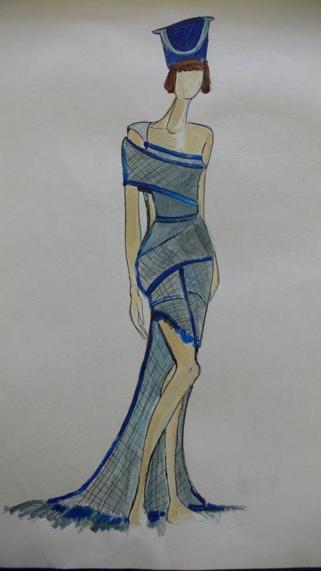 מכינה לעיצוב ואדריכלות במכללת קונספט | עיצוב: רוית אור- שמלת שמרטוטים