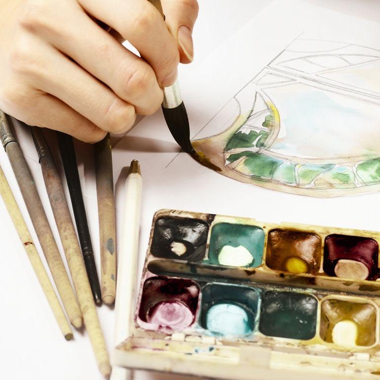 מכינה לעיצוב ואדריכלות במכללת קונספט   רישום בצבעים